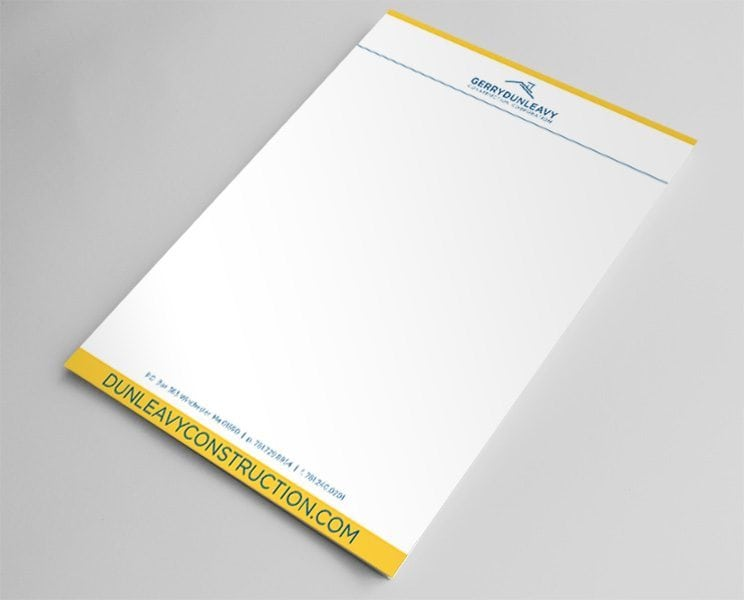 Dunleavy construction letterhead design superior promotions thecheapjerseys Images