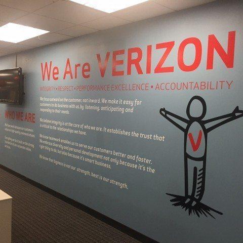 Verizon Wall Graphics - Livingston, NJ