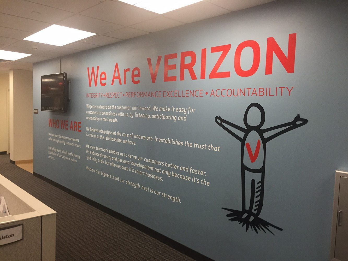 Verizon Wall Graphics - Livingston, NJ