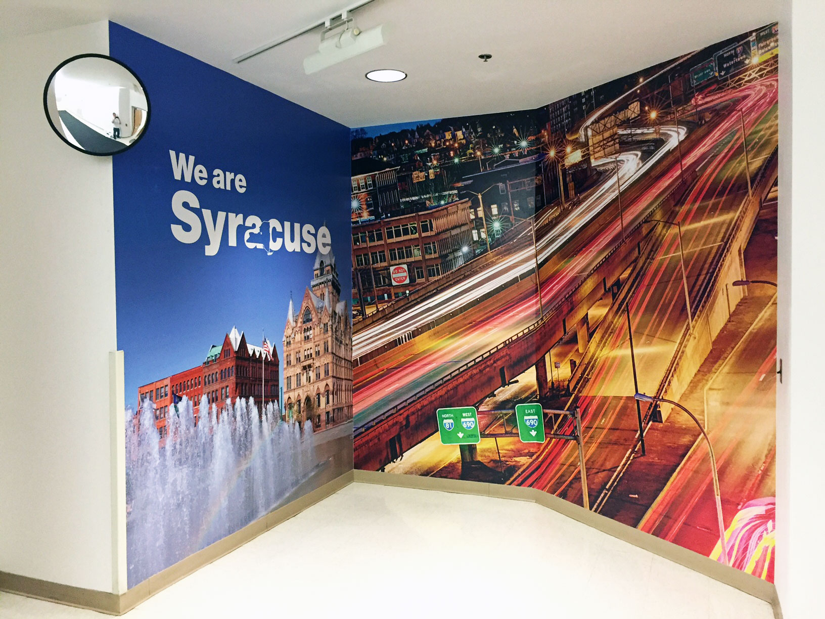 A portfolio of design work content creations and more from superior verizon we are syracuse wall mural amipublicfo Image collections