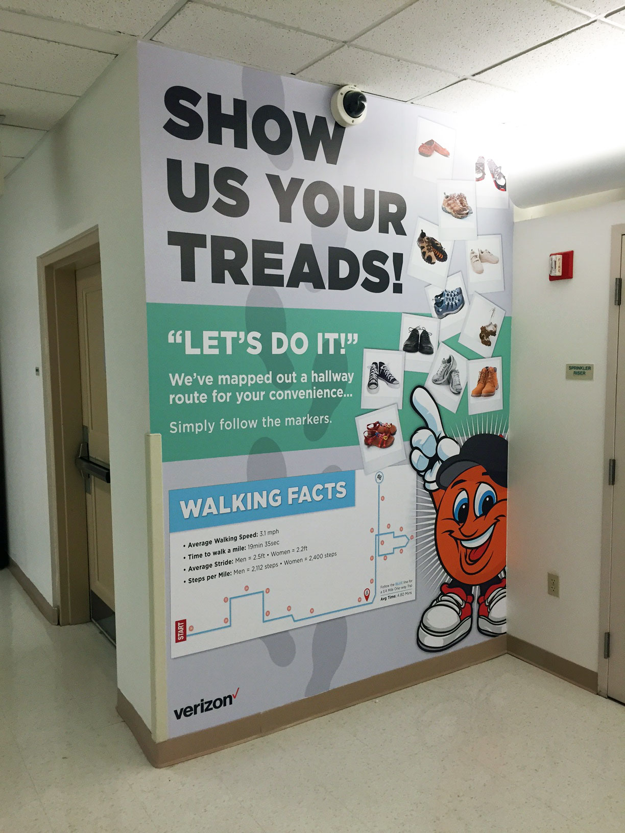 Show Us Your Treds Wall Mural | Verizon Syracuse