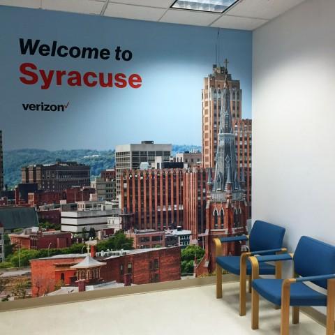 Welcome to Syracuse Wall Mural   Verizon Syracuse