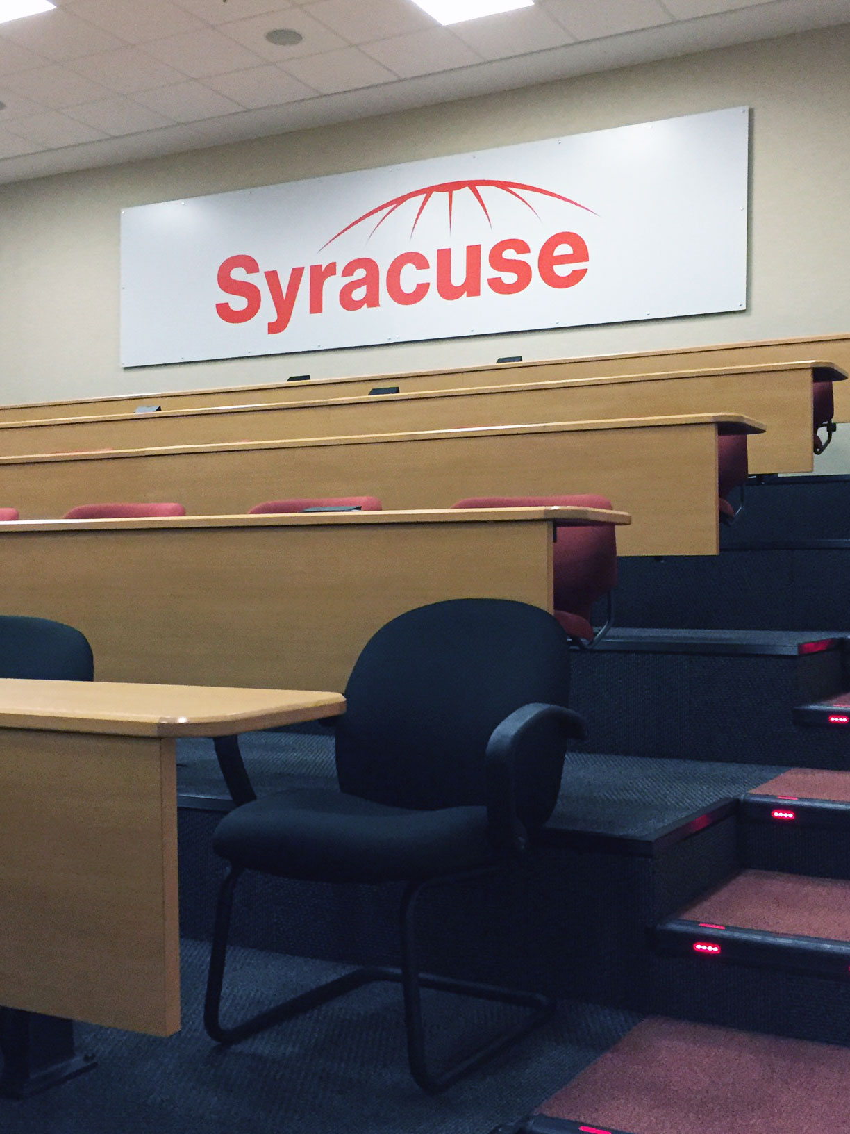 Custom Syracuse Logo Mounted to Gator Board