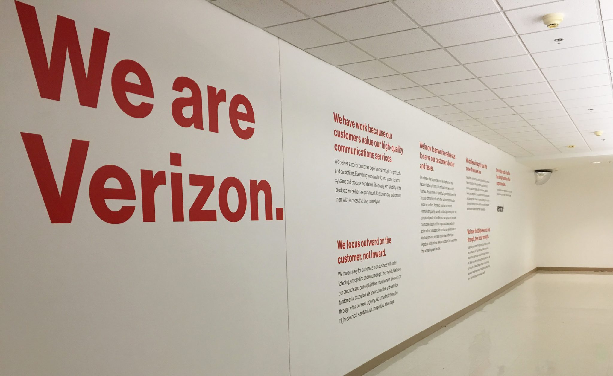 Verizon Wall Credo | Verizon Syracuse