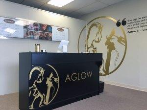 AGLOW Front Desk Lettering & Signange