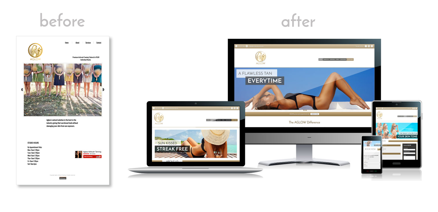 AGLOW Site | Before & After