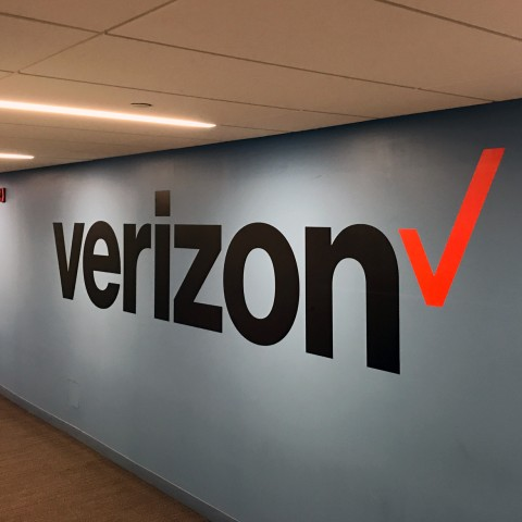Verizon Wall Lettering