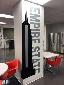 Empire State Column Wrap | Large Format Printing | Medford, Boston, MA