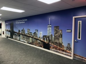 Brooklyn Bridge Wall Mural | Large Format Printing | Medford, Boston, MA
