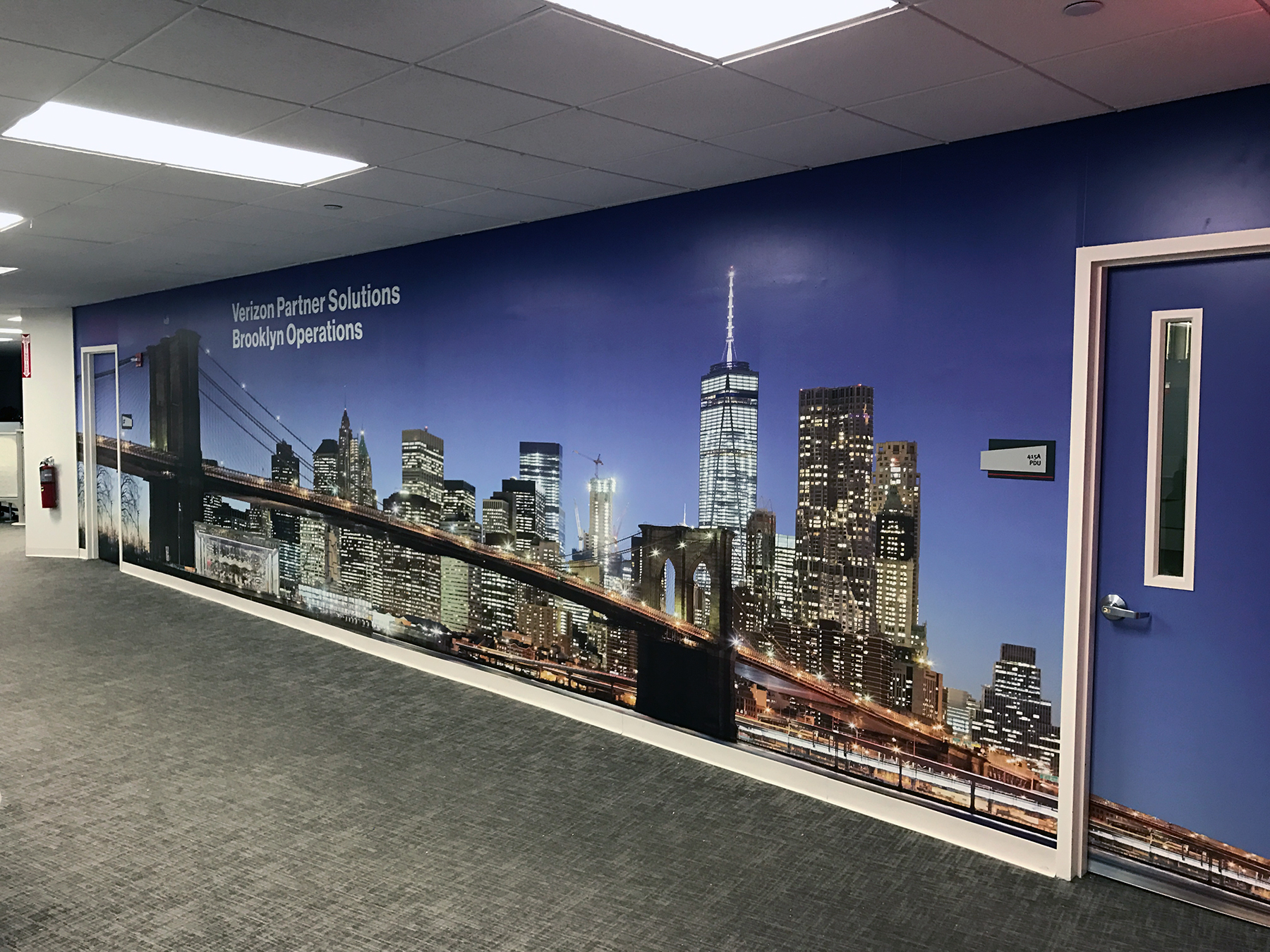 Brooklyn Bridge Wall Mural Large Format Printing Medford Boston