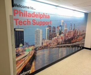 Verizon Philadelphia Tech Support Mural | Large Format Printing in Boston, MA