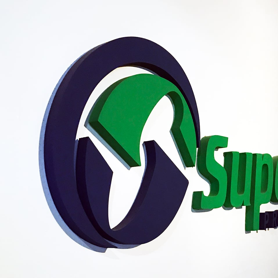 Superior Promotions Raised Letter Interior Sign
