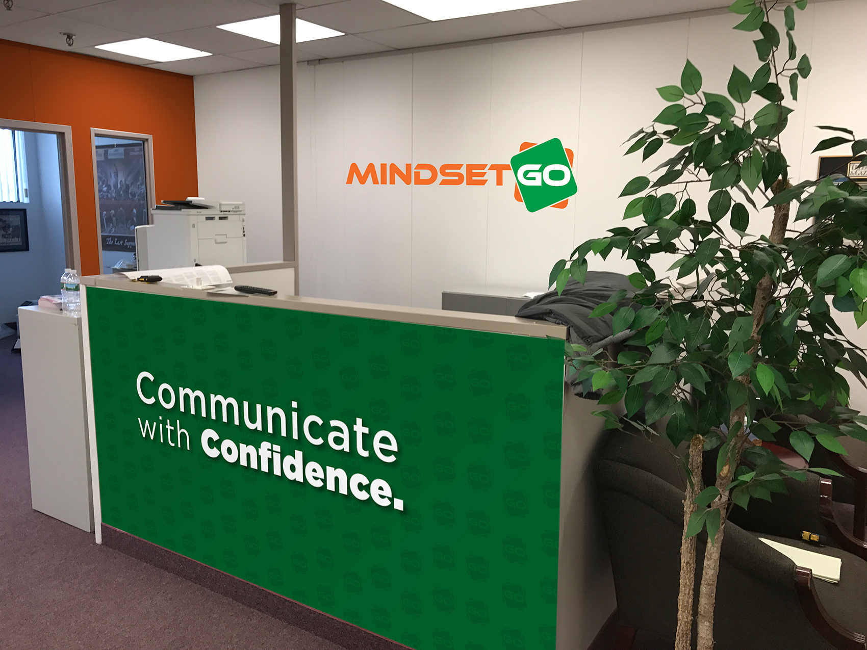Mind Set Go Desk Wrap and Wall Sign