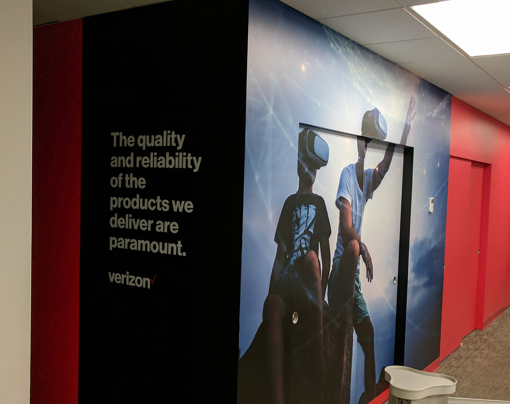 Virtual Reality Mural | Verizon | Digital Printing | Boston, Medford