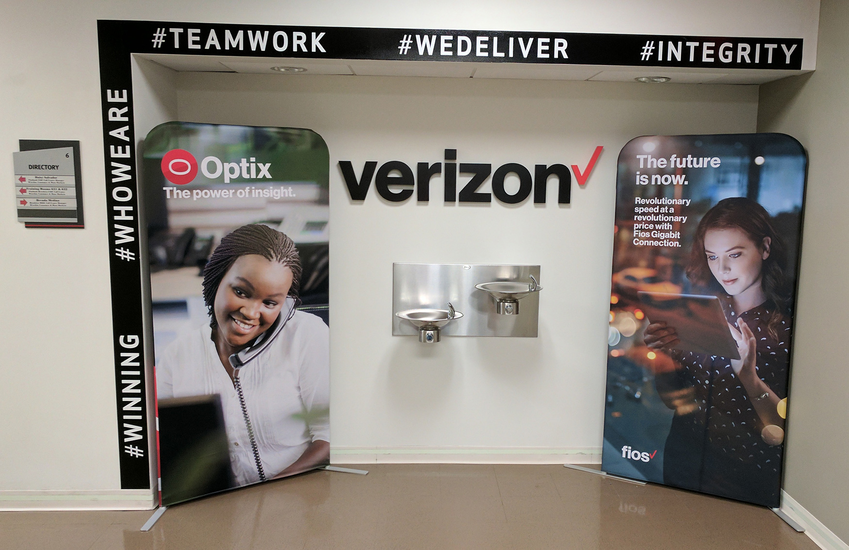 Verizon Banner Stands