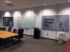 Direct Print Fabric Banner and Custom Whiteboard