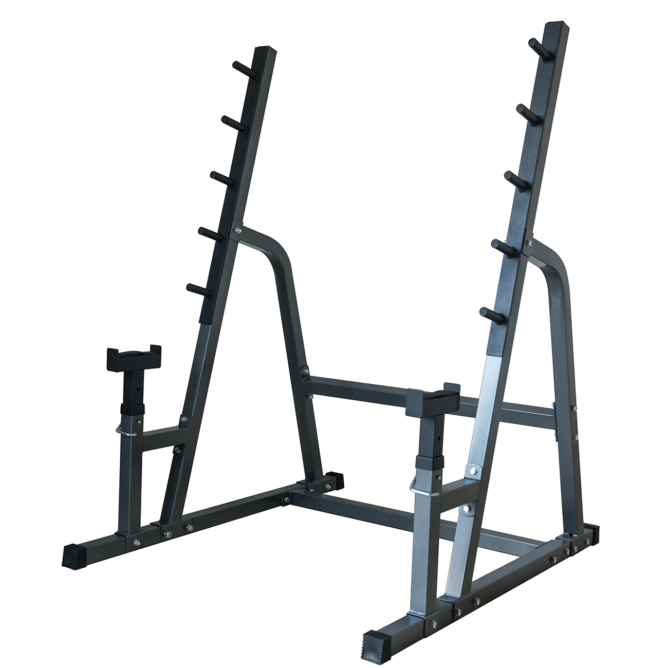 akonza deluxe squat bench combo rack fitness exercise equipment safety