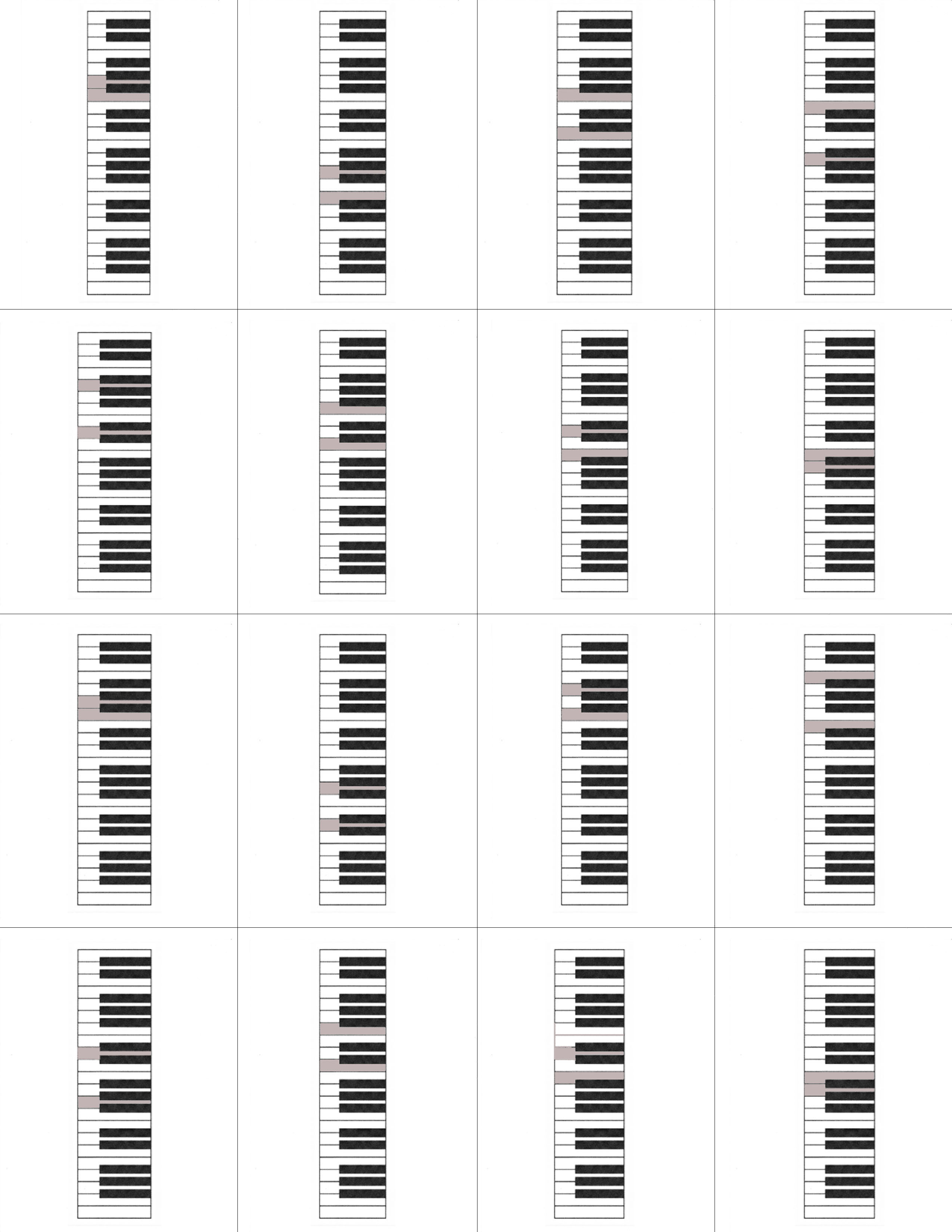 Piano Flash Cards Printable That Are Luscious