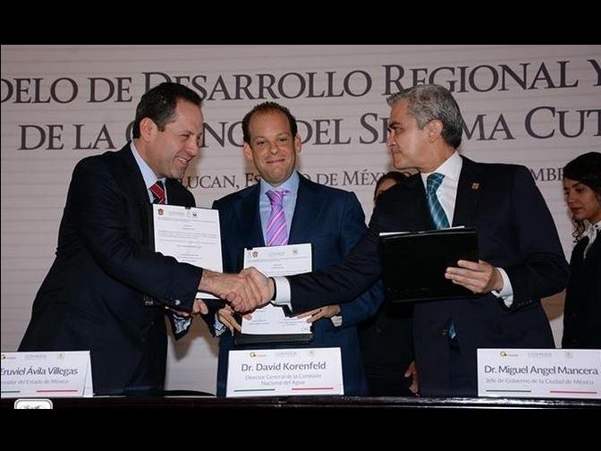 GDF y Edomex firman convenio para mejorar el Cutzamala