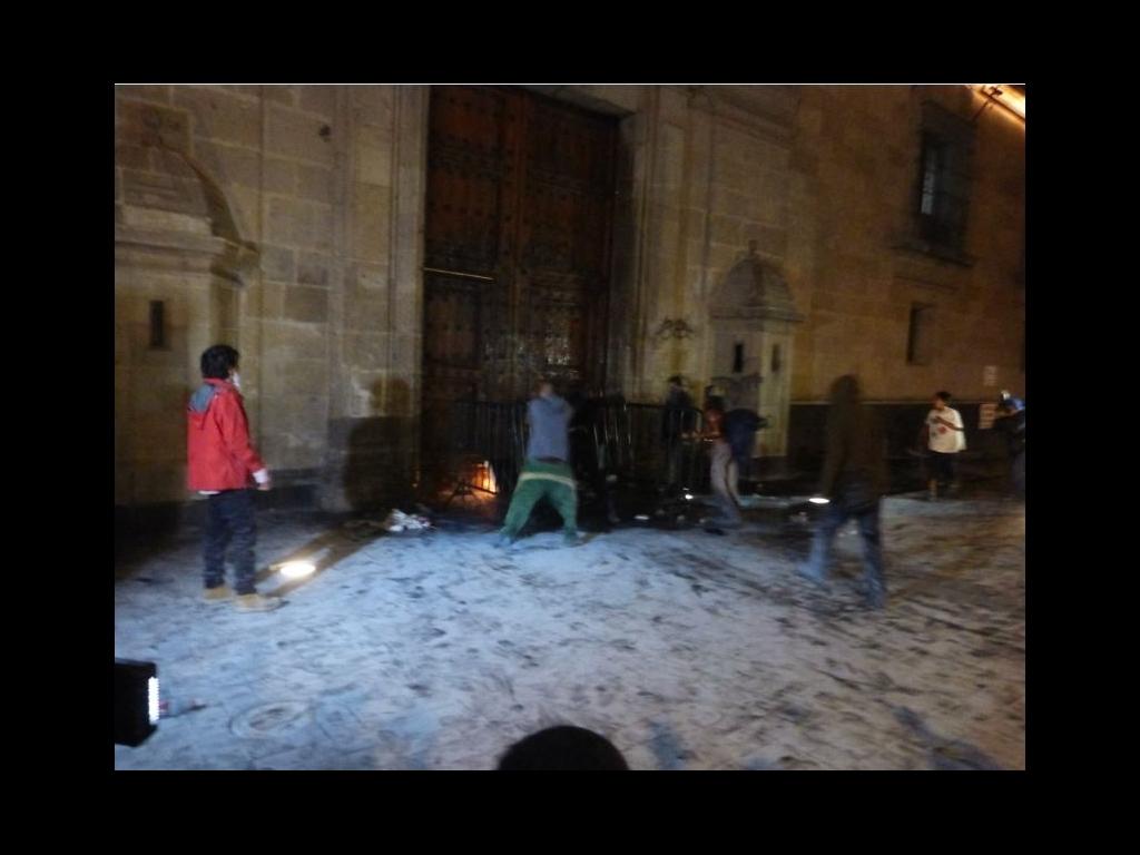 Presentan ante el MP a 14 personas por actos vandálicos en Palacio Nacional