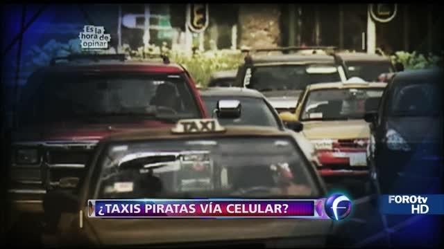 ¿Taxis piratas vía celular?