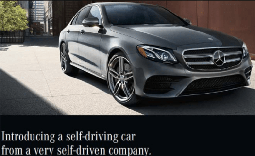 The Mercedes-Benz E-Class advertisement suggested its E-Class was a