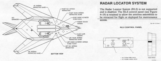 Some of the snippets from the F-117's Dash-1 that talk about the RLS.