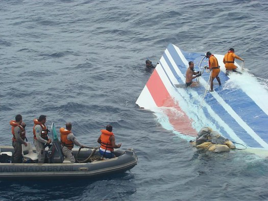 Debris from Air France flight 447.