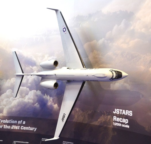 Northrop Grumman's JSTARS replacement model, the one they're building with Gulfstream, had the refueling receptacle on top of the fuselage.
