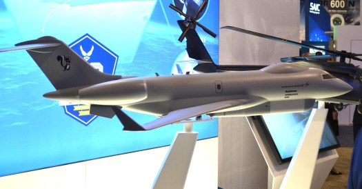 Lockheed Martin's model of its JSTARS replacement proposal, which is it working on a part of a team.