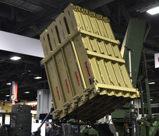 Rafael's Iron Dome at the Raytheon booth.