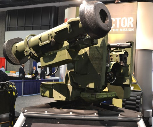 Kongsberg's new M153 variant with the Javelin missile launcher.