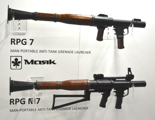 RPG-7 launchers from Ukraine's Masik.