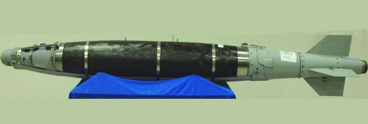 A complete GBU-31(V)5/B JDAM with the BLU-129/B bomb.