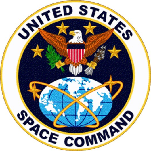 The insignia of US Space Command, which existed from 1985 to 2002.