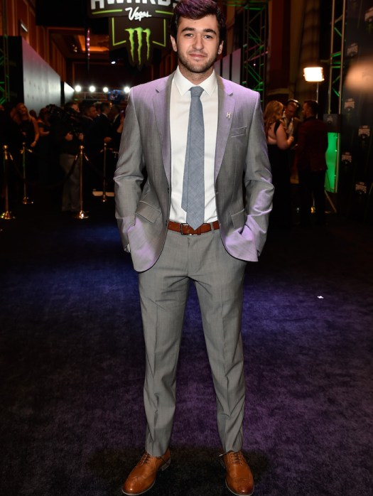 Chase Elliott attends the 2018 Monster Energy NASCAR Cup Series Awards banquet at The Wynn Las Vegas, where he was named 2018 Most Popular Driver, on Nov. 29, 2018.