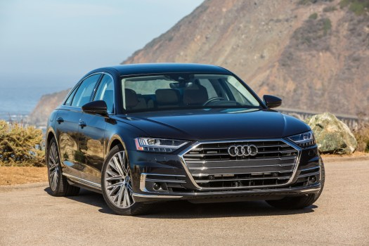 A8 is V-6 only for now, but a V-8 model arrives later this year