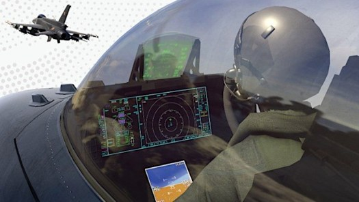 An artist's depiction of the new large panel display in the F-21.