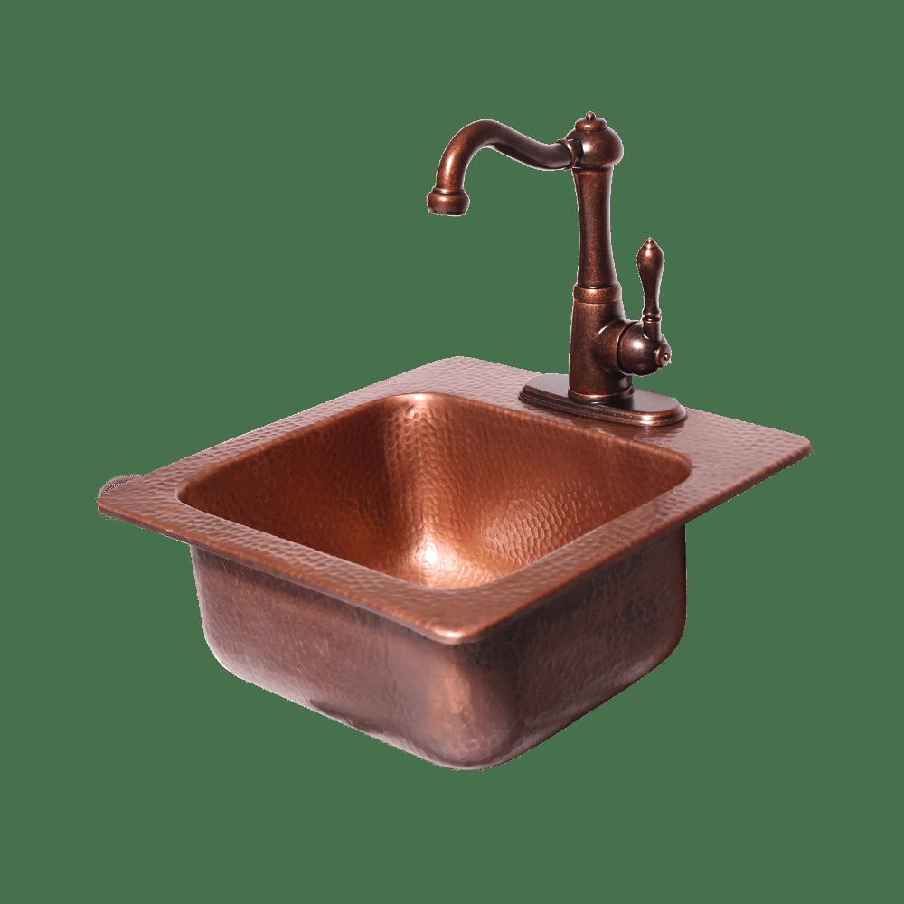 copper bar sink faucet 15x15 16 gauge copper sink hot cold water