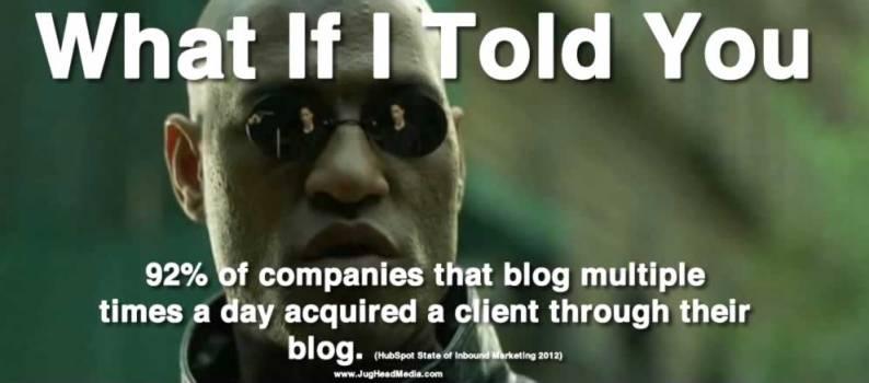 blogging tips online marketing statistics morpheus meme
