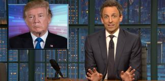 seth meyers late night donald trump