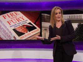 samantha bee fire and fury distracting trump