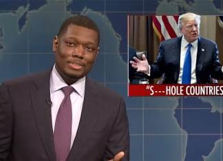 snl michael che colin jost weekend update shithole countries