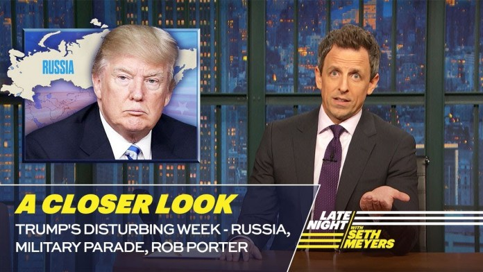late night seth meyers rob porter trump