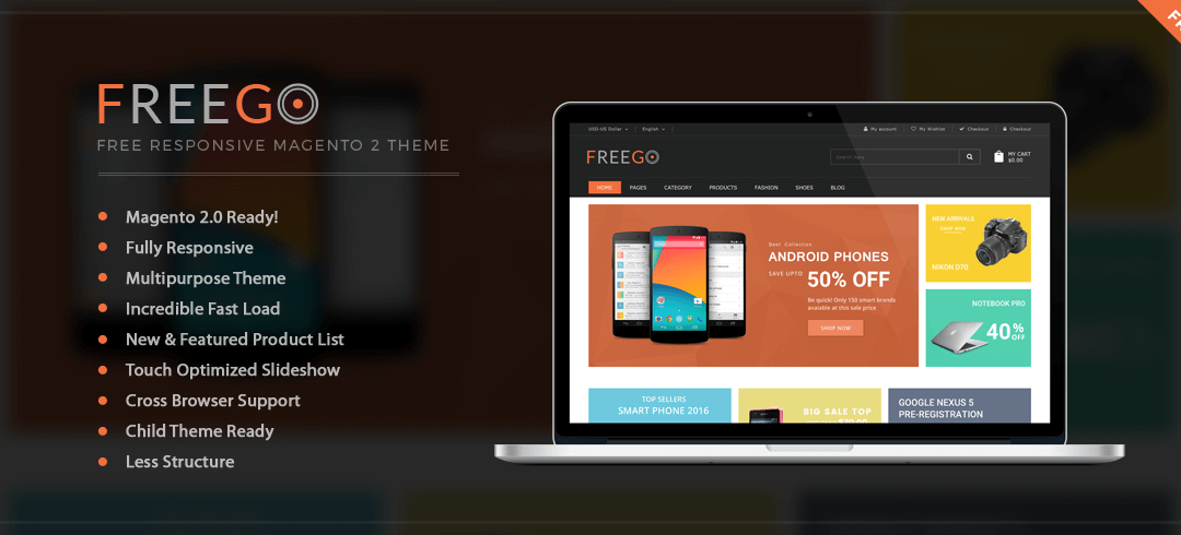 Download FreeGo – Free Magento 2 Theme