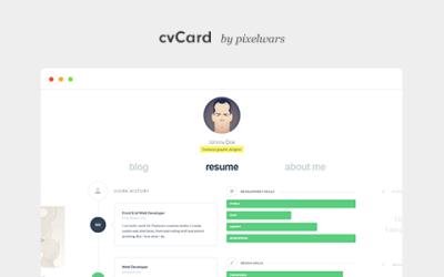CVCARD WP V1.3.5 – RESPONSIVE VCARD THEME