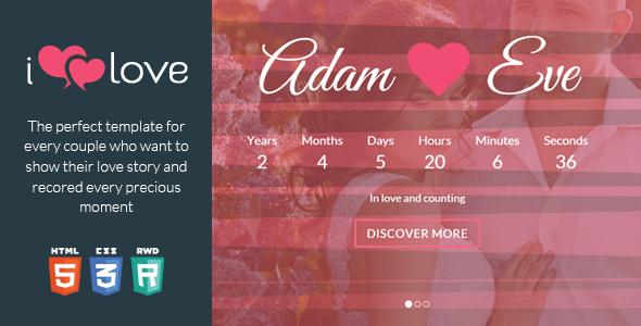 ilove v1.2.2 – Love Story HTML Wedding Template