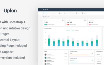 Uplon – Responsive Bootstrap 4 Web App Kit – HTML Template