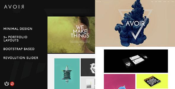 AVOIR – Creative Portfolio Bootstrap Template – HTML Template