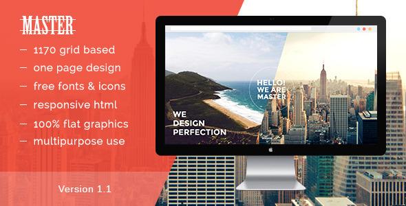 Master v1.1 – One Page HTML 5 Portfolio Template
